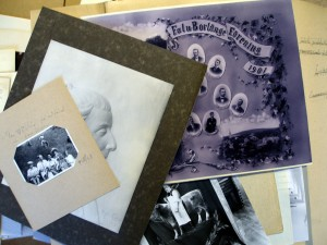 Ett kollage av gamla bilder