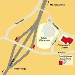 Karta över Tallenområdet