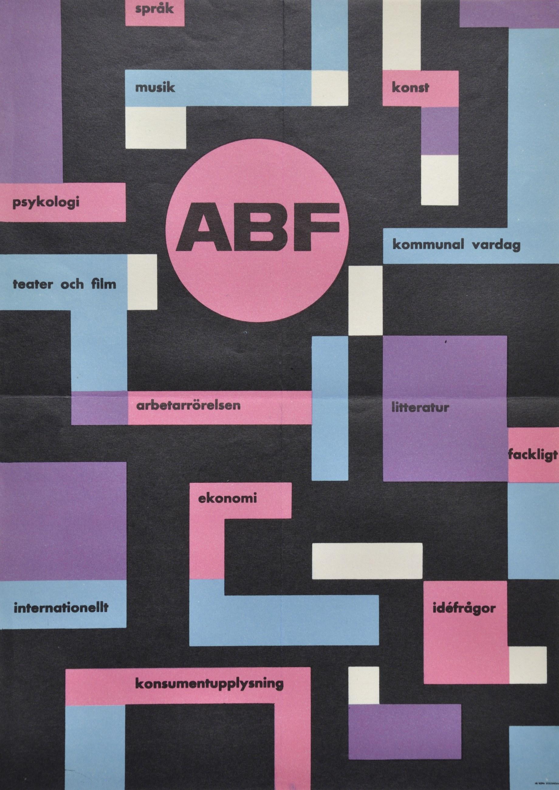 Affisch om ABF