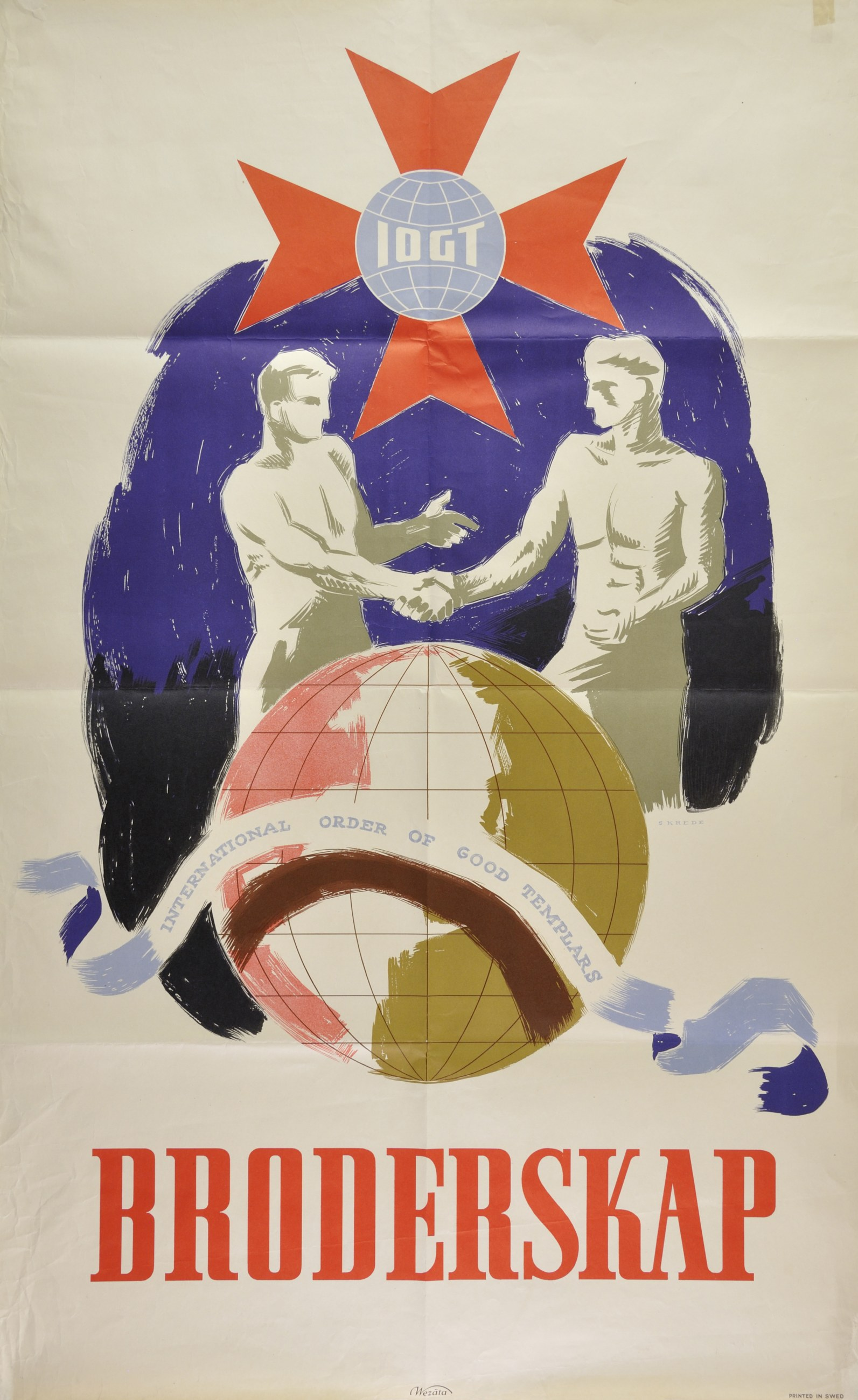 """IOGT affisch med texten """"Brödraskap"""""""