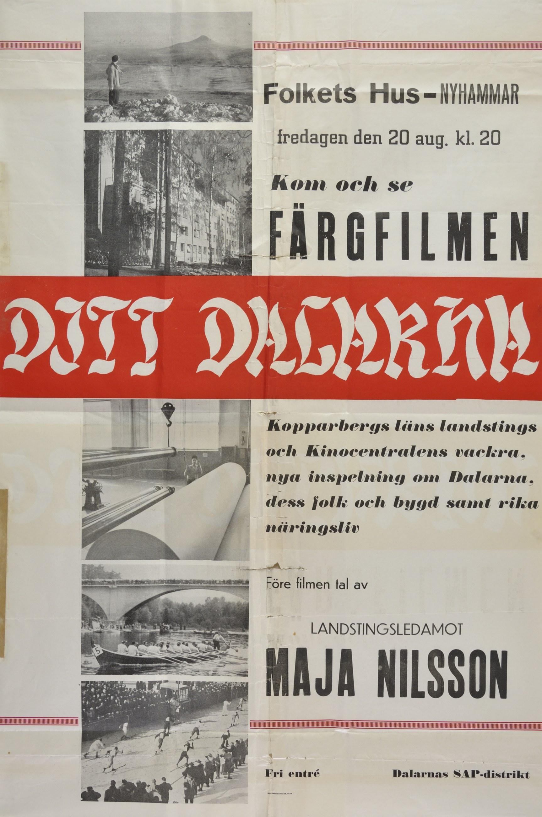 """Reklam för färgfilmen """"Ditt Dalarna"""""""