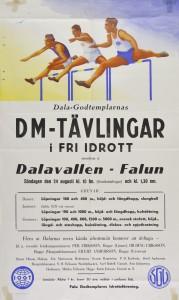 Affisch om DM i Fri idrott