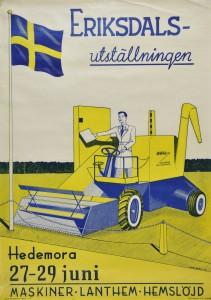 Affisch om Eriksdalsutställningen