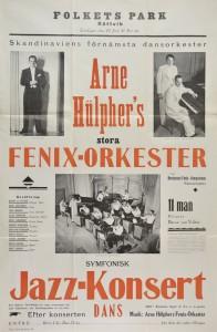 Reklam för Fenix- orkesterns spelning i Rättviks Folkets hus 1935
