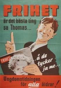 Affisch för tidningen Frihet