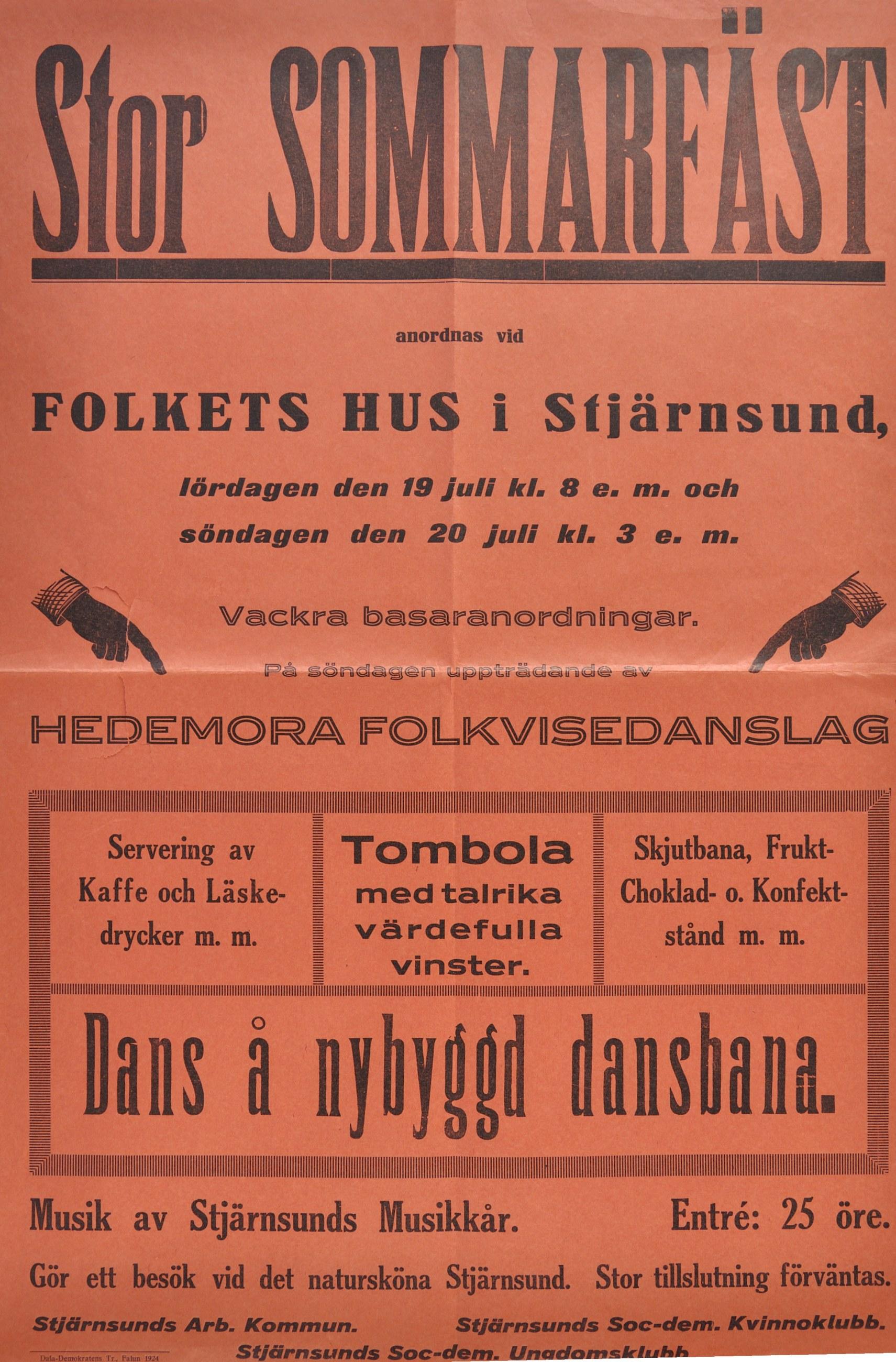 """Affisch med texten """"Stor Sommarfäst"""""""