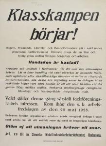 Valaffisch 1928 Metall Hedemora