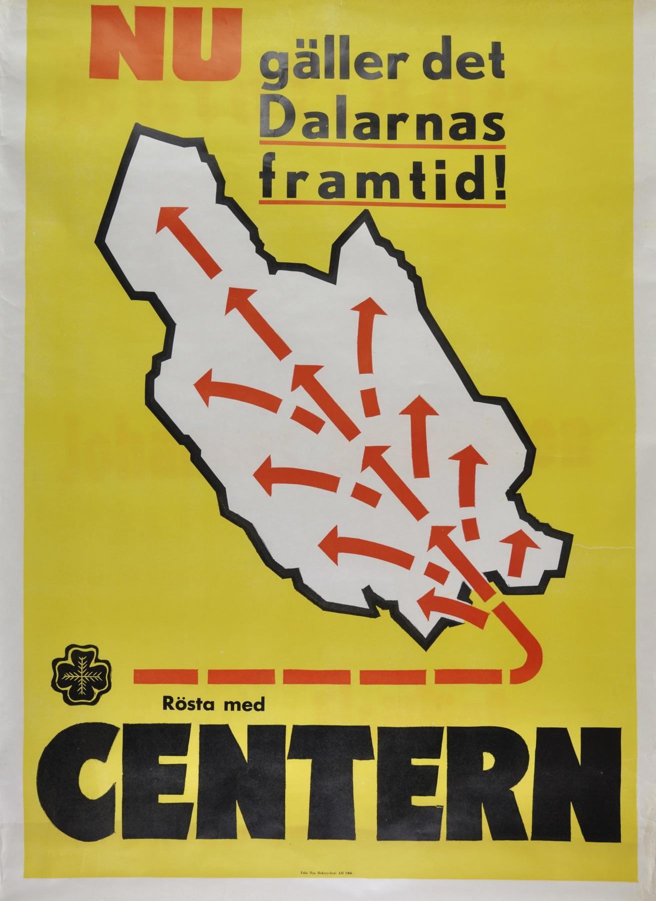 Centerpartiets valaffisch 1966