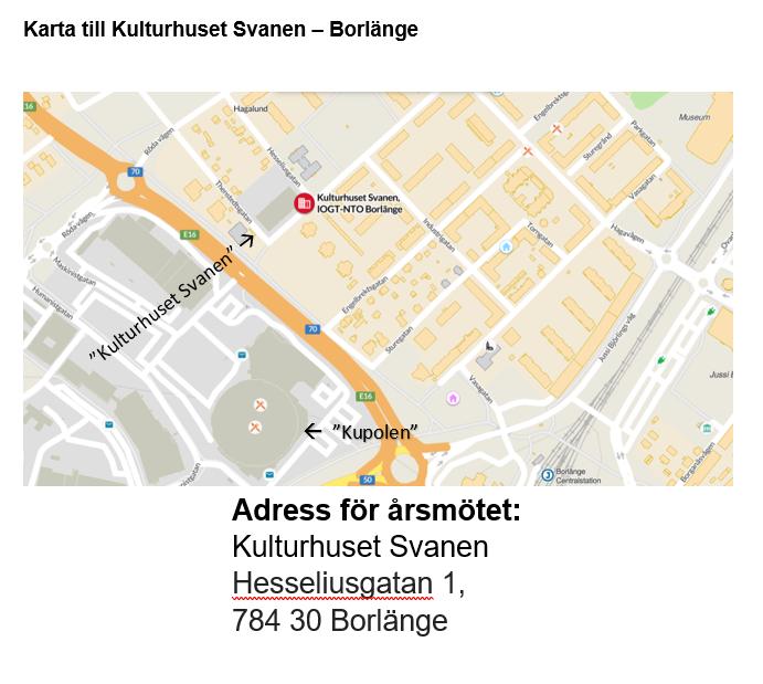 Karta till Kulturhuset Svanen